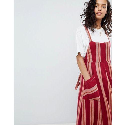 Free people chanti stripe maxi dress - red