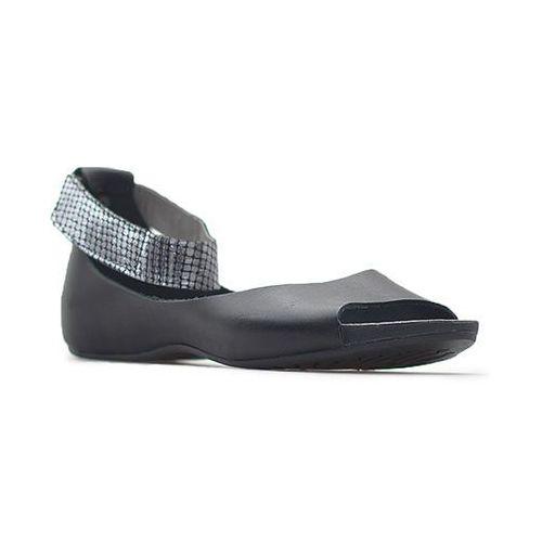 Sandały 40026 czarne lico + moro czarne, Lemar