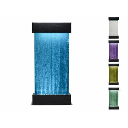 Vente-unique Wolnostojąca bąbelkowa ściana wodna cecily - diody led zmieniające kolory - wys. 122 cm