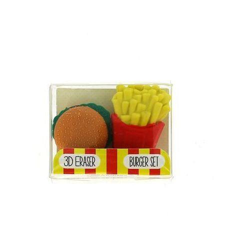 Gumki do mazania – burger z frytkami