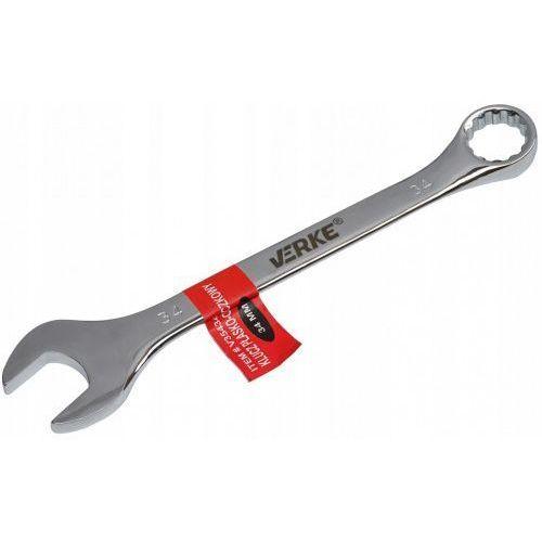 Klucz płasko-oczkowy 34 mm polerowany mocny marki Verke