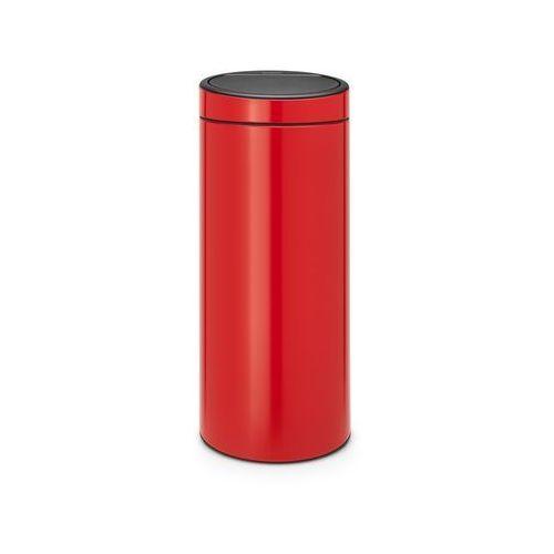 Brabantia - Kosz Touch Bin - 30 l - plastikowe wiaderko - czerwony - czerwony