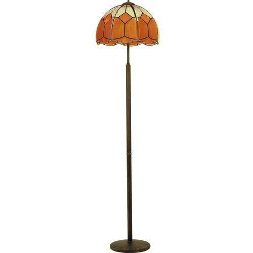 Alfa Lampa oprawa stojąca podłogowa witraż 3x60w e27 patyna, brąz 10659