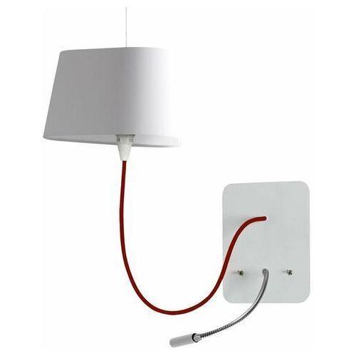 PETIT NUAGE - Wiszący kinkiet z lampą do czytania LED Biały