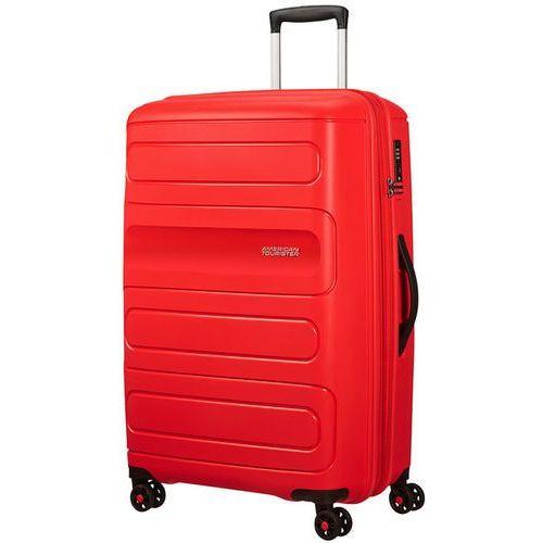 American tourister sunside duża poszerzana walizka 77 cm / czerwona - sunset red