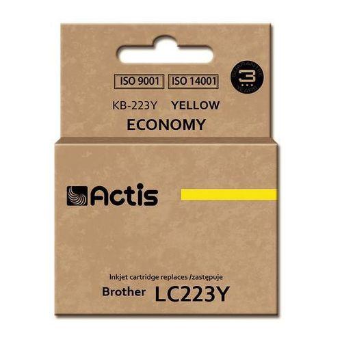Tusz Actis KB-223Y (do drukarki Brother, zamiennik LC223Y standard 10ml yellow), kolor Yellow