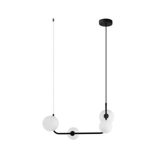 Lampa wisząca ferrand mdm-4123/4 bk szklana oprawa zwis kule balls molekuły czarne białe marki Italux