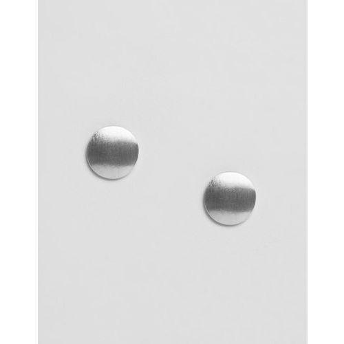 Pieces Miebe Metallic Stud Earrings - Silver