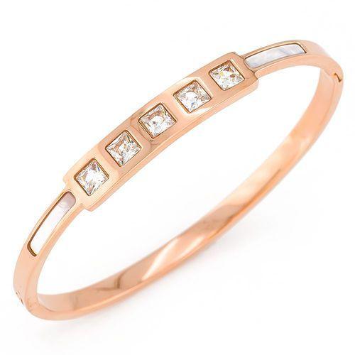 Exclusive by milla Exclusive bransoletka prosta różowe złoto - różowe złoto