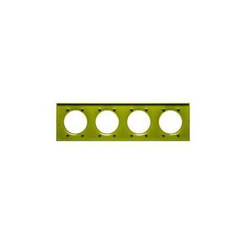 Ramka poczwórna Schneider Odace Styl S52P708H verde /seledynowa, kolor seledynowy
