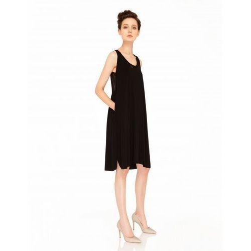 Sukienka z przezroczystymi plecami (kolor: grafitowy, rozmiar: uniwersalny), Vzoor