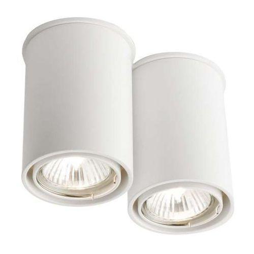 Spot LAMPA sufitowa OSAKA 1120/GU10/BI Shilo natynkowa OPRAWA tuby DOWNLIGHT biały, kolor Biały