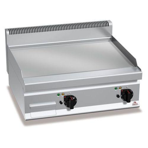 Berto's Płyta grillowa, elektryczna, ze stali chromowanej, gładka, nastawna, 9,6 kw, 800x700x290 mm   , macros 700, powered hard chrome, e7fl8bp-2/cr