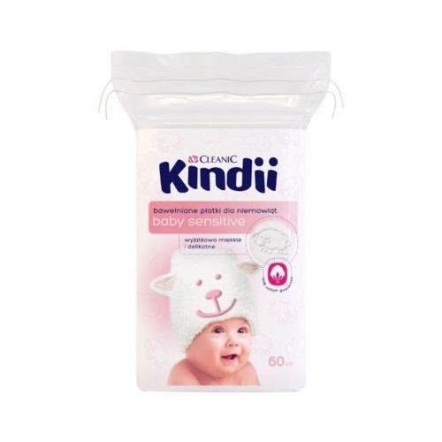 60szt dzidziuś kindii płatki dla niemowląt marki Cleanic