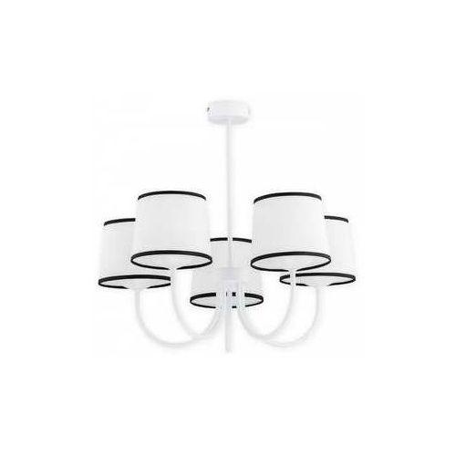 Lemir lume o2795 w5 bia plafon lampa sufitowa żyrandol 5x60w e27 biały mat (5902082868828)