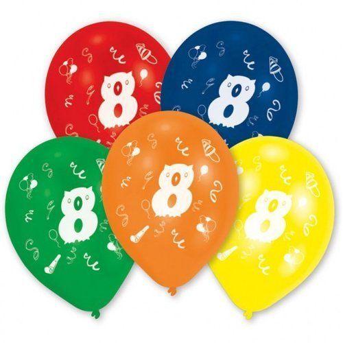 Balony lateksowe cyfra 8, 10 sztuk, 5_629796