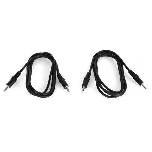 Kabel mini-jack 3,5 mm – 2 sztuki – 1,5 metra/szt.zestaw marki Auna