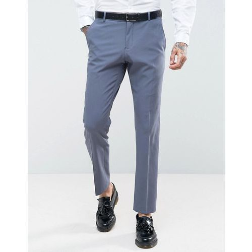 Selected Homme Slim Wedding Suit Trousers With Stretch - Blue