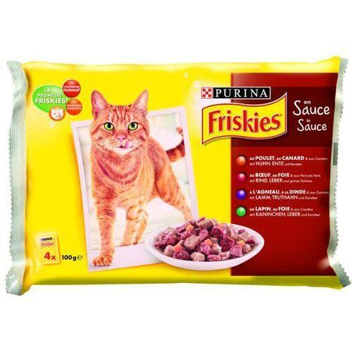 Friskies w sosie Mix Mięsny ZESTAW 4x100g karma dla kotów, saszetka