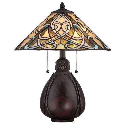 Lampa stołowa witrażowa qz/india/tl - lighting - rabat w koszyku marki Elstead