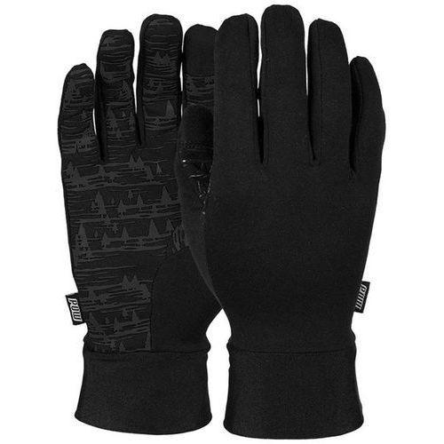 rękawice snowboardow POW - Poly Pro TT Liner Black (Short) (BK) rozmiar: XL