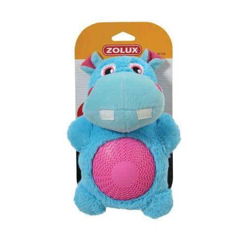 Zolux Hipopotam z dźwiękiem - pluszowo - gumowa zabawka dla psa  - 22 cm (3336024809532)