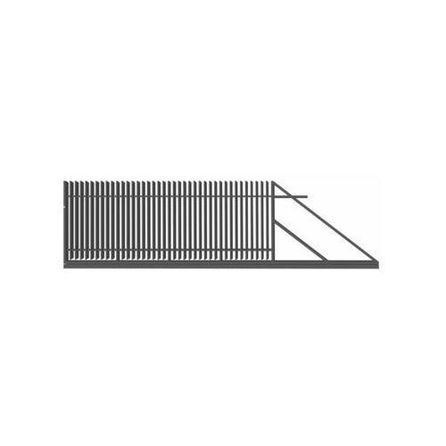 Brama przesuwna z automatem negros 400 x 150 cm prawa marki Polbram