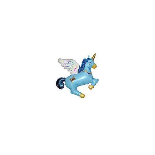 Balon foliowy Jednorożec Magiczny Niebieski - 61 cm - 1 szt (5905548994888)