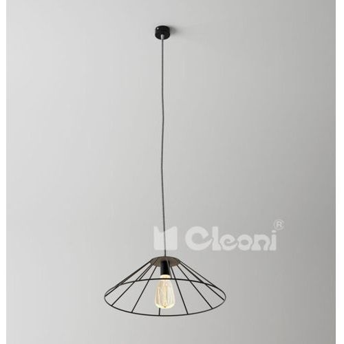 Lampa wisząca beja c1 przewód żelazko, czarny mat żarówka led gratis!, 1327c1j1116 marki Cleoni