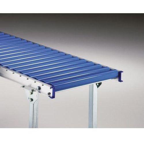Gura fördertechnik Lekki przenośnik rolkowy z ramą aluminiową, rolki z tworzywa, szer. taśmy 600 mm