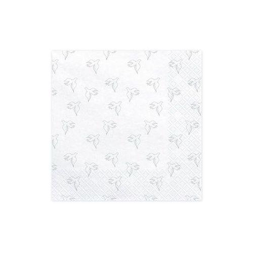 Serwetki 3 warst. 33x33 gołębice białe 20 szt marki Party deco