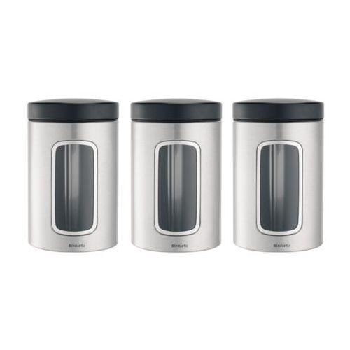 Komplet 3 pojemników kuchennych 1,4l stal matowa fpp marki Brabantia