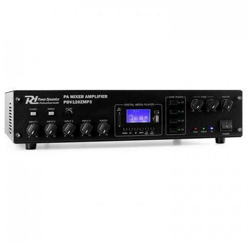 Power dynamics 4-kanałowy 4-strefowy wzmacniacz pa pdv120zmp