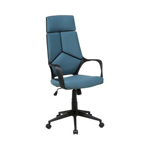 Krzesło biurowe czarno-niebieskie regulowana wysokość DELIGHT (4260586354553)