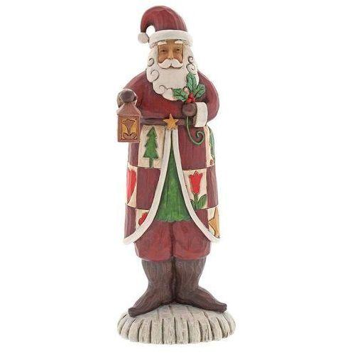 Jim shore Mikołaj z latarnią folklore santa with lantern 6001442 figurka ozdoba świąteczna