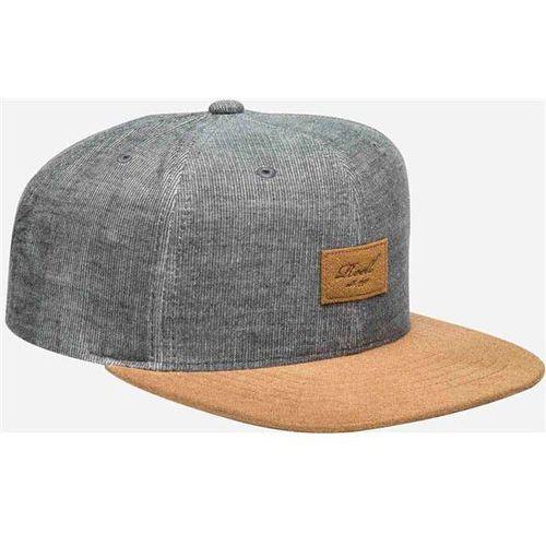 czapka z daszkiem REELL - Suede 6-Panel Cap Black Melange (BLACK MELANGE) rozmiar: OS, kolor czarny