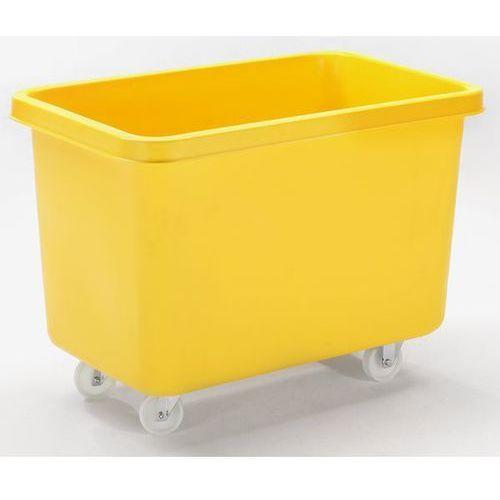 Prostokątny pojemnik z polietylenu, ruchomy, poj. 340 l, żółty, od 5 szt. Z płyt