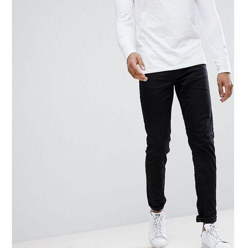 Burton menswear tall skinny jeans in black - black