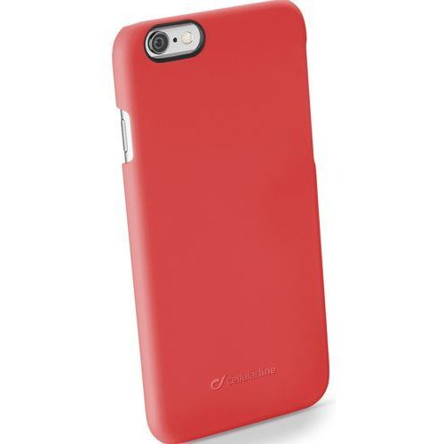 Etui CELLULAR LINE Rigid Satin do Apple iPhone 6/6S Czerwony (8018080251559)