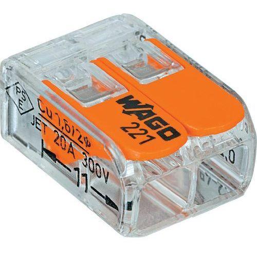 Złącze zaciskowe Ilość PIN: 2 WAGO 221-412 100 szt. Przezroczysty, Pomarańczowy, 221-412