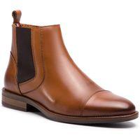 Tommy hilfiger Kozaki - essential leather toecap chelsea fm0fm02140 winter cognac 906