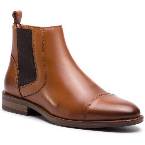 Kozaki - essential leather toecap chelsea fm0fm02140 winter cognac 906 marki Tommy hilfiger