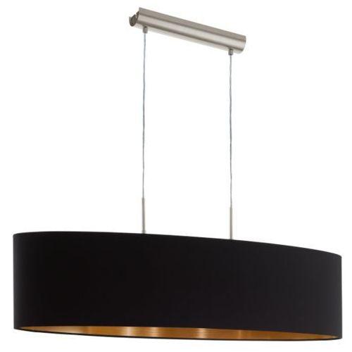 LAMPA wisząca PASTERI 94916 Eglo abażurowa OPRAWA zwis czarny (9002759949167)