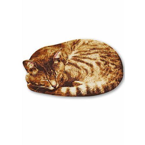 Bonprix Wycieraczka w kształcie kota brązowy