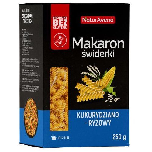Makaron świderki (fusilli) bezglutenowy kukurydziano - ryżowy 250g - marki Naturavena