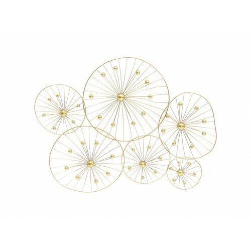 Vente-unique Metalowa dekoracja ścienna helios - 108x6x81cm - kolor złoty