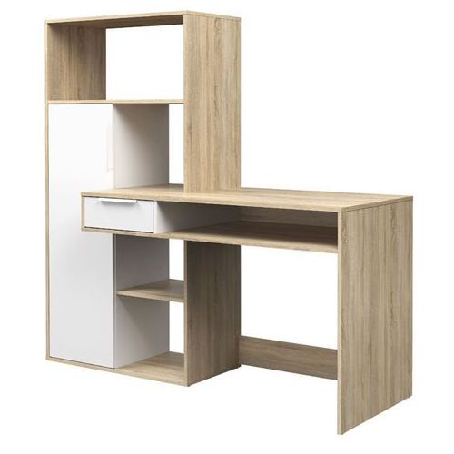Tvilum Function plus 2 biurko z extra regałem