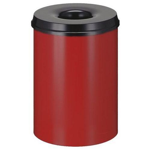 Kosz na papier, samogaszący, poj. 30 l, korpus czerwony / głowica gasząca czarna marki Vepa bins