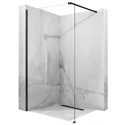Ścianka prysznicowa, czarny profil 90 cm aero black mat marki Rea