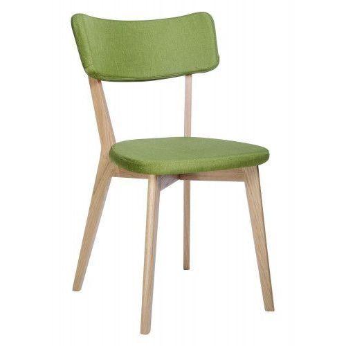 Krzesło drewniane SCANDI zielone - podstawa dębowa, 9513-F.GREEN (7812114)